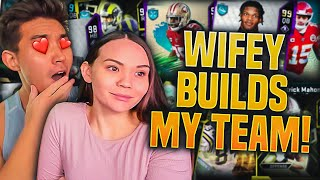 MY WIFEY BUILDS MY MADDEN TEAM! Madden 20 Ultimate Team