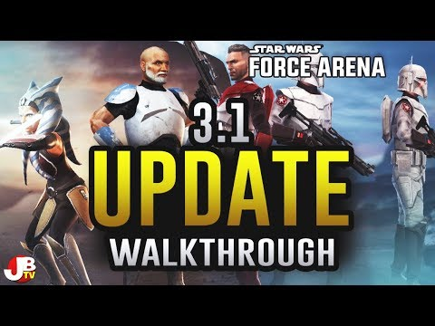 Update 3.1 Walkthrough. New Leader animations and ability overview. Star Wars: Force Arena