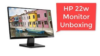 hP 22W Monitor Unboxing