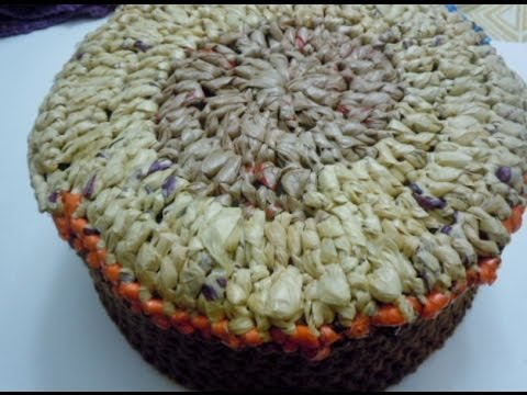 How to crochet a plarn basket - Part 1