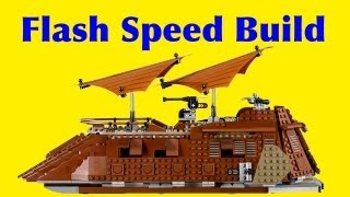 Animated Lego Jabba's Sail Barge 75020 Star Wars Flash Speed Build