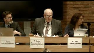 Public meeting of the County Council Wed 21 Feb 2018