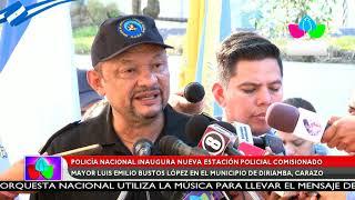 Policía Nacional inaugura estación policial Comisionado Mayor Luis Emilio Bustos López en Diriamba.