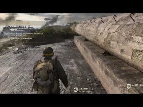 Call of Duty®  WWII how to get on top of the bunker in the headquarters