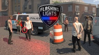 Symulator Upośledzonego Policjanta | Flashing Lights (#5) po update  - test nowości