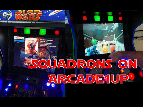Star Wars Squadrons on modded Arcade1UP Cabinet from Brad Diederichs