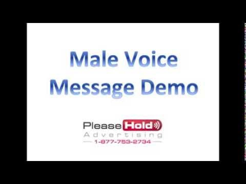 FREE On Hold Message Demo   male