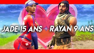 JADE 15 ANS DRAGUE RAYANLEBG 9 ANS SUR FORTNITE !