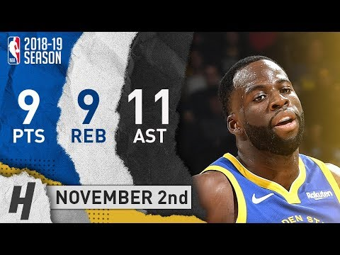 Draymond Green Full Highlights Warriors vs Timberwolves 2018.11.02 - 9 Pts, 11 Ast, 9 Rebounds!