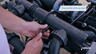 alphadisc™过滤器 - 如何更换排水管方向|netafim