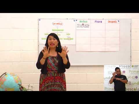Primaria 3º y 4º clase: 142 Tema: Los verbos en pretérito, presente y futuro