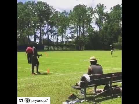 Patrick Ryan QB 4.41 40 yard dash at RPFL Tryout 2017