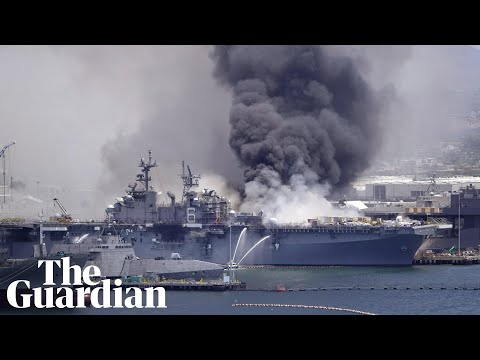 USS Bonhomme Richard fire: US warship rocked by explosion in San Diego