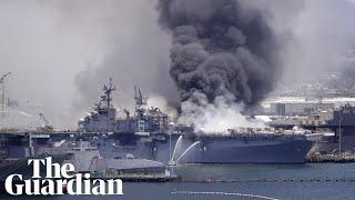 USS Bonhomme Richard fire: US warship rocked by explosion in San Diego
