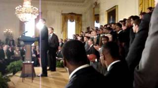 At the White House with the President, Coach Saban, and the Alabama Football Team