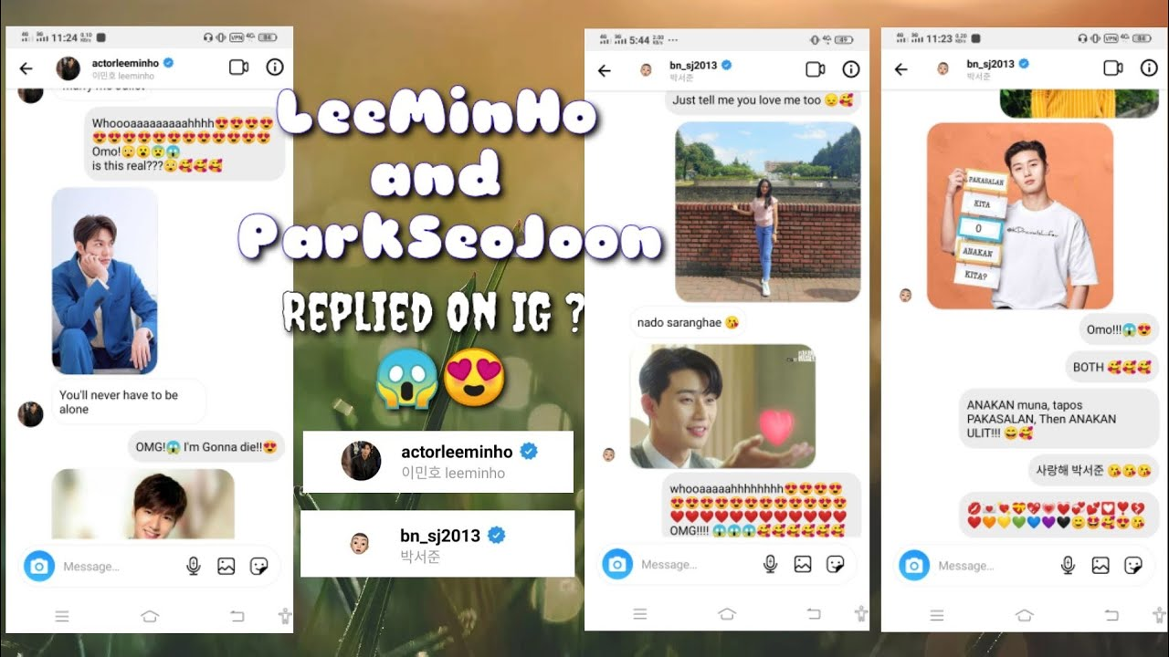 LeeMinHo and ParkSeoJoon Replied on Instagram 😱😍 HOW??🤔