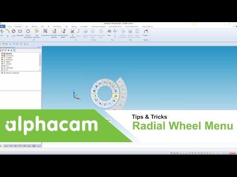 Radial Wheel  Menu | Alphacam