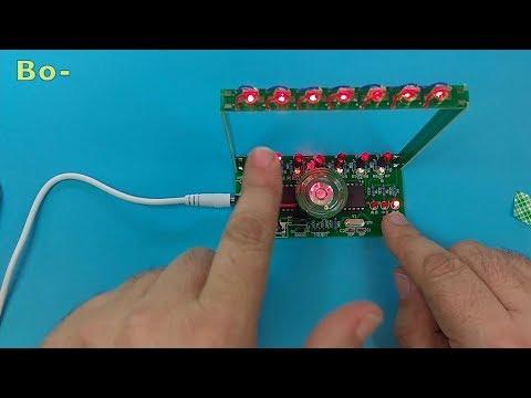ICStation - DIY Kit C51 MCU Laser Harp Kit String Electronic Keyboard Kit DIY Module