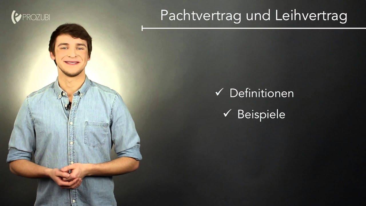 Pachtvertrag und Leihvertrag | Wissen für die Ausbildung | Prozubi ...
