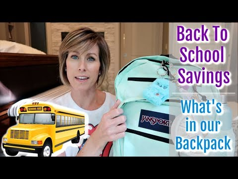 BACK TO SCHOOL // What's in Our Backpacks // Saving Money on School Supplies