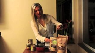 Raw Vegan Cherry Amaretto Chia Pudding With Black Chia Seeds