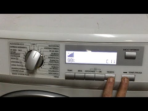 Diagnostico-Reset lavadora aeg/electrolux (74950). [Test washing machine].