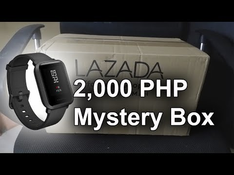 2,000 PHP Lazada Mystery Box Unboxing