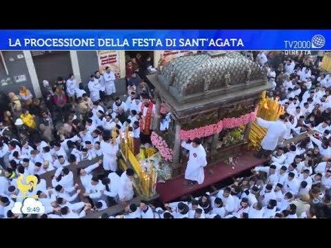 La processione della festa di Sant'Agata