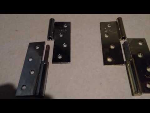 как отличить правую от левой дверной петли
