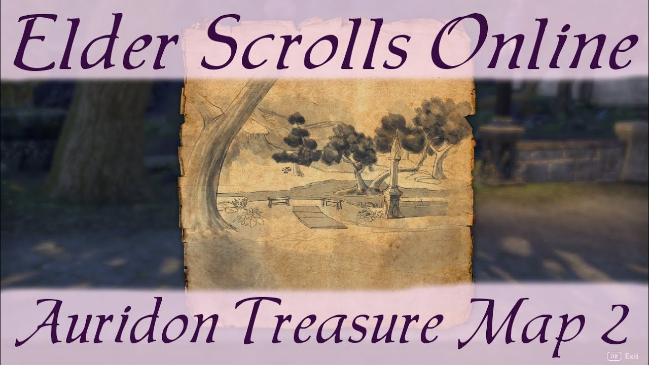 Auridon Treasure Map 2 [Elder Scrolls Online ESO] - YouTube