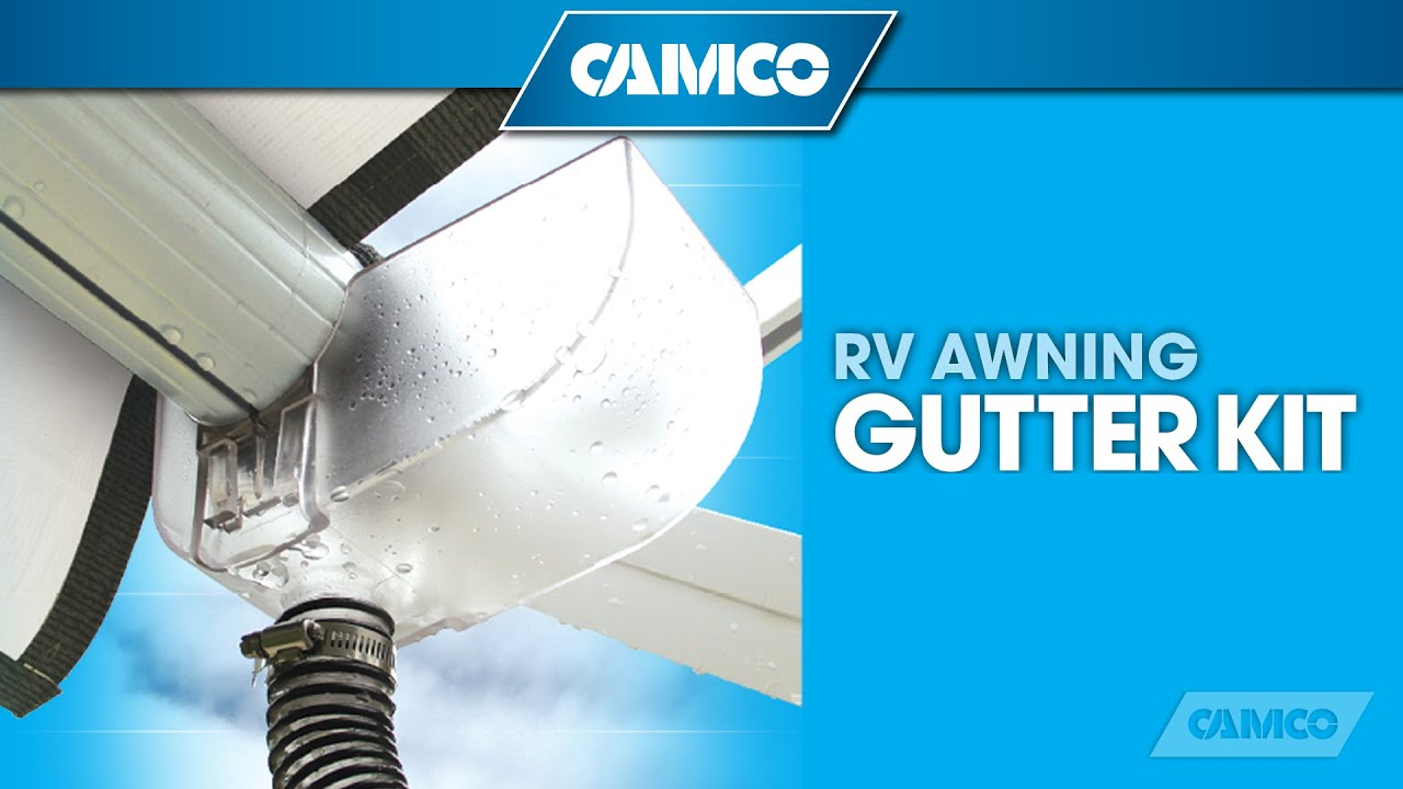 Rv Awning Gutter Kit From Camco Youtube