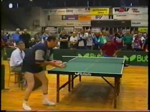 Table Tennis Veterans EM Senioren Europameisterschaft 1997 Prag J.Dvoracek- Dragutin Surbek