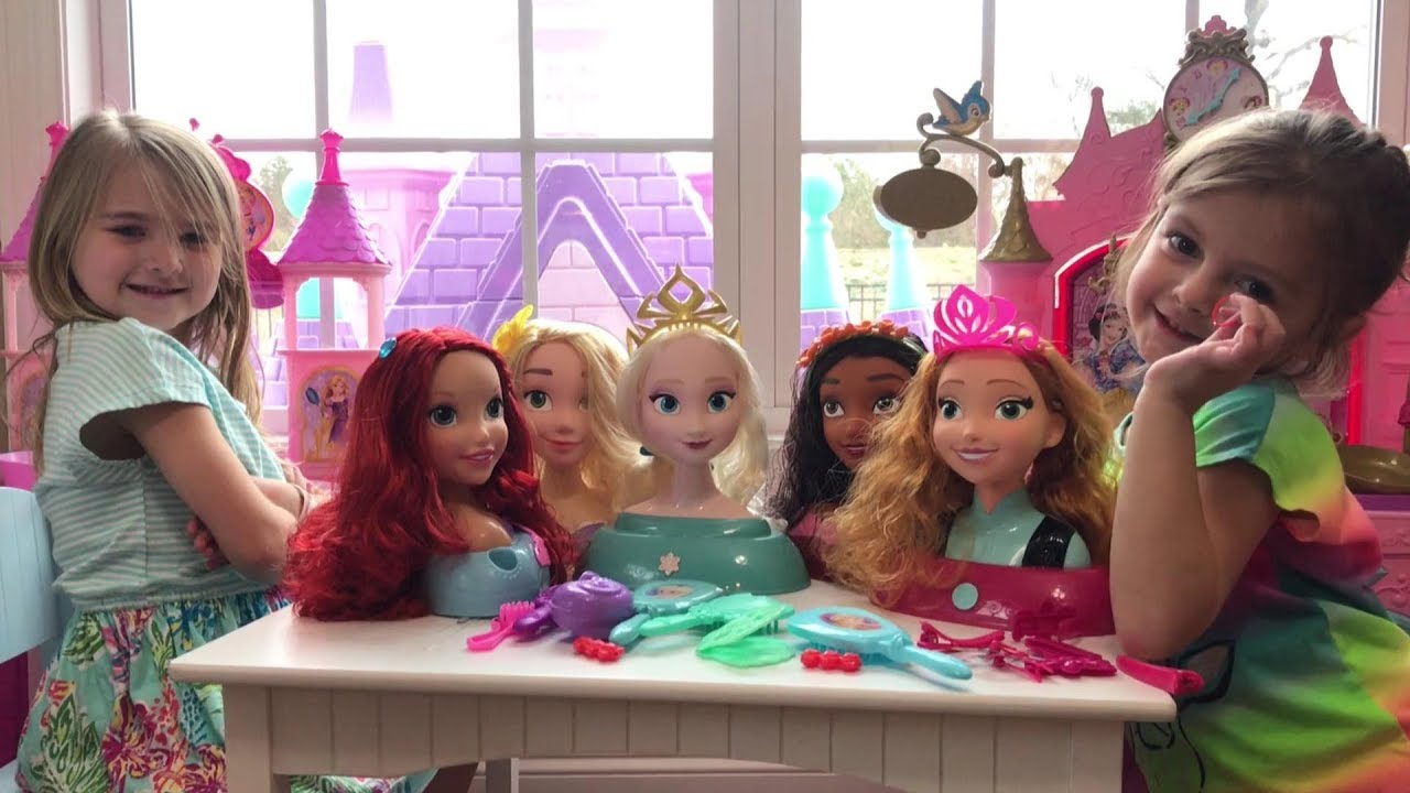 Styling Heads Girls Toy Gift Disney Princess Unicorn Cinderella