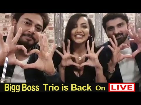 Tanish Tejaswi and Samrat trio talking with Fans On live After Bigg Boss