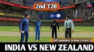 (INDIA VS NEW ZEALAND) 2nd T20 MATCH IN REAL CRICKET 19 LIVE