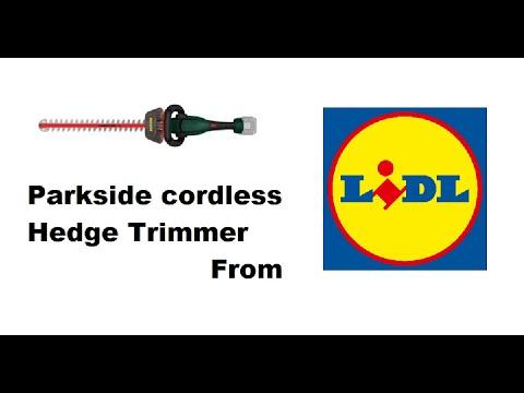 Parkside 20 volt cordless hedge trimmer from LIDL