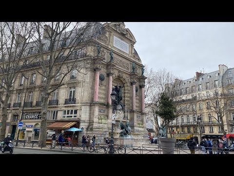 Walking in Boulevard Saint Michel 2021 / City / Latin Quarter