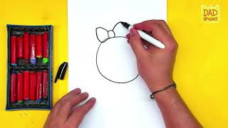 🔴How to draw a little cat - girl / Kid-E-Cats / Cartoons for kids