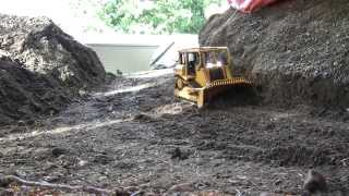 RC Bulldozer building road