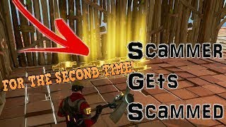 FORTNITE Scammer Gets Scammed in PVE *MUST WATCH*