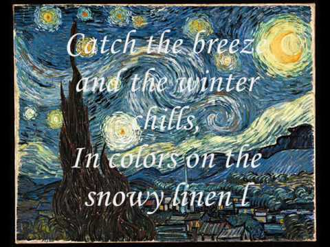 Don McLean  Vincent  Starry, Starry Night With Lyrics