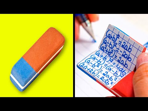 33 SNEAKY SCHOOL HACKS FOR SMART STUDENTS || School Supply Hacks by 5-Minute DECOR!