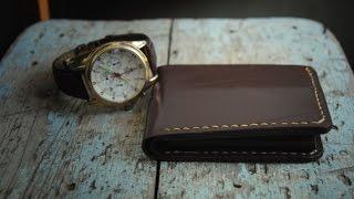 Работа с кожей. Портмоне своими руками (handmade leather wallet)(Так можно сшить портмоне из кожи своими руками., 2015-01-23T10:46:23.000Z)