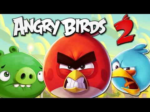 Обзор игры Angry Birds 2 (Злые Птички 2) ОЧЕНЬ КРАСИВАЯ ГРАФИКА (Для мобильной игры)