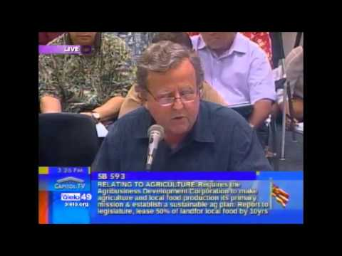 Gary Hooser testimony on Ag Development Corporation 2 2 15