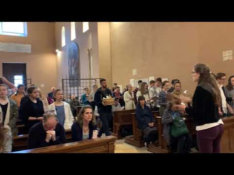 Chesterton Academy students singing in Rome 2019
