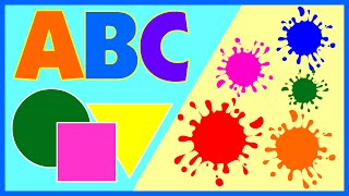 12 ABC Alphabet Songs | Learn Colors and Shapes For Kids by Teehee Town