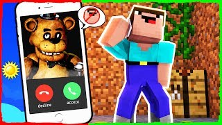 Minecraft FNAF - How to Call FREDDY FAZBEAR on FACETIME
