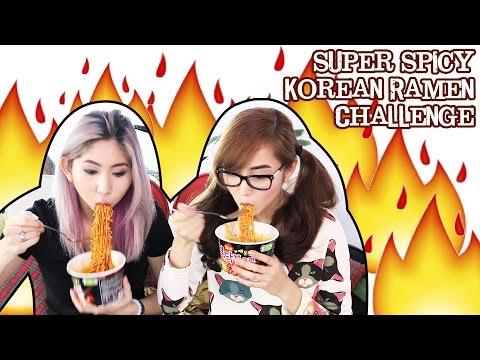 SUPER SPICY KOREAN RAMEN (FIRE NOODLE) CHALLENGE!    Ashley Gosiengfiao ft. Alodia Gosiengfiao