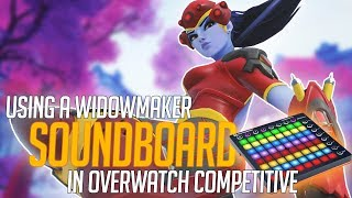 Using a Widowmaker Soundboard in Overwatch Competitive! (Overwatch Trolling)